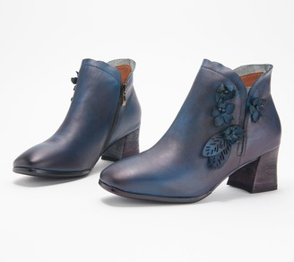 Spring Step L'Artiste by Leather Ankle Boots - Loralie