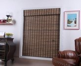 "Arlo Blinds, Guinea Deep Light Filtering Bamboo Roman Shade with Valance - Size: 57""W x 74""H"