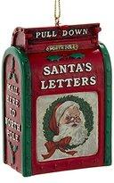 Kurt Adler Santas Mailbox Mail to North Pole Vintage Look Christmas Holiday Ornament