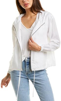 Michael Stars Sierra Hooded Linen Bomber Jacket