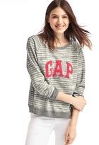 Gap Textured logo pullover sweatshirt