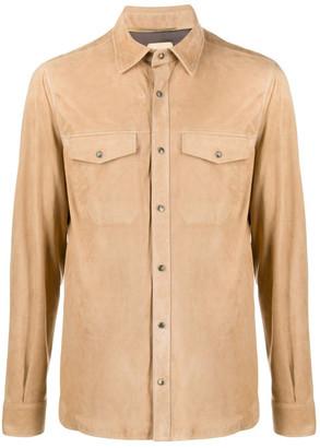 Ajmone Suede Leather Shirt