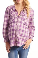 Everly Grey Women's 'Batina' Maternity Shirt