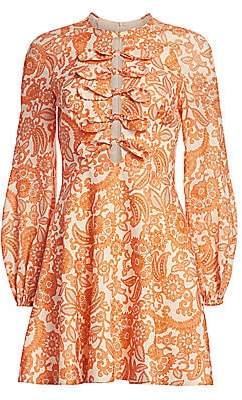 Zimmermann Women's Peggy Scalloped Mini Dress