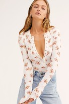 Free People One Of The Girls Printed Henley