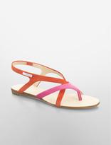 Calvin Klein Sherlie Crisscross Colorblock Sandal
