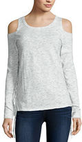 i jeans by Buffalo Long Sleeve Cold Shoulder Fringe Top