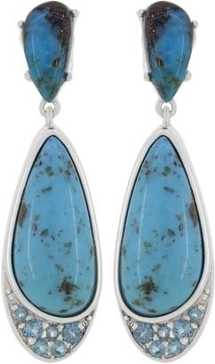 Generation Gems Cabochon & Gemstone Earrings, Sterling Silver