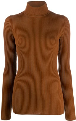 Joseph Rib-Knit Turtleneck Top