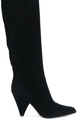 Sergio Rossi Pointed Knee-Length Boots