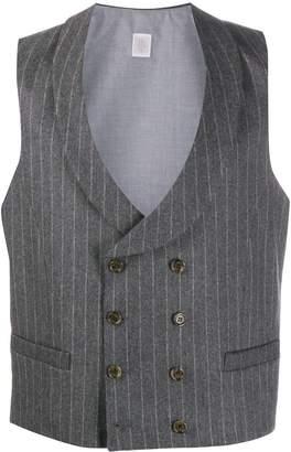 Eleventy pin-stripe double-breasted waistcoat