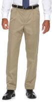 Croft & Barrow Big & Tall Classic-Fit No-Iron Performance Khaki Pleated Dress Pants