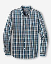 Eddie Bauer Men's Legend Wash Long-Sleeve Poplin Shirt - Pattern