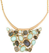 Alexis Bittar Kiwi Cluster Swinging Bib Necklace