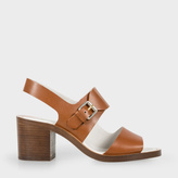 Paul Smith Women's Tan Leather 'Leven' Heeled Sandals