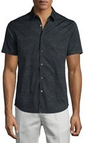 Theory Benner Printed Short-Sleeve Shirt, Eclipse Multi