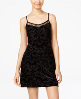 As U Wish Juniors' Velvet Burnout Slip Dress