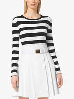 Michael Kors Striped Ribbed Sweater