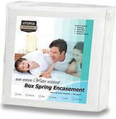 Utopia Bedding Zippered Spring Encasement Ample Zipper Opening for Easy Use - Water Resistant Cover, Ultimate Protection against Insects, Dust Mites and Allergens (Twin)