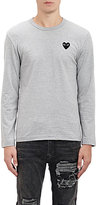 Comme des Garcons Men's Heart Patch Long-Sleeve T-Shirt-GREY