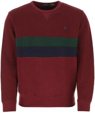 Polo Ralph Lauren Logo Stripe Sweatshirt