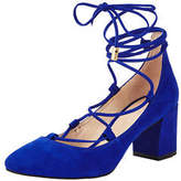 Carvela Aid Tie Up Block Heel Shoes in Blue Size 4