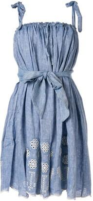 Innika Choo tie waist midi dress