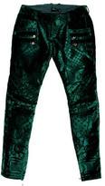 Balmain Velvet Brocade Pants w/ Tags