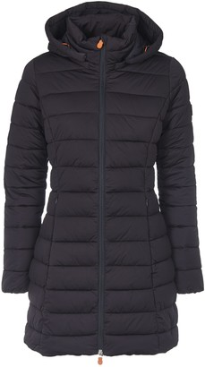 Save The Duck Slim Fit Dark Down Jacket With Logo