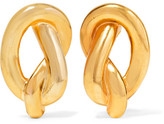 Kenneth Jay Lane Gold-plated Clip Earrings - one size