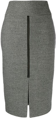 Tom Ford Houndstooth Pencil Skirt
