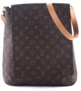 Louis Vuitton Brown Coated Canvas Monogram Musette Shoulder Handbag BY4311 MHL