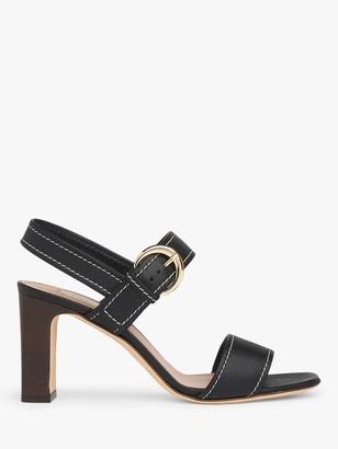 LK Bennett Natalie Leather Buckle Sandals