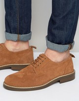 Asos Lace Up Shoes Tan Suede