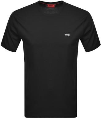 HUGO BOSS Dero203 Crew Neck Short Sleeve T Shirt Blac