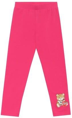 MOSCHINO BAMBINO Stretch-cotton jersey leggings