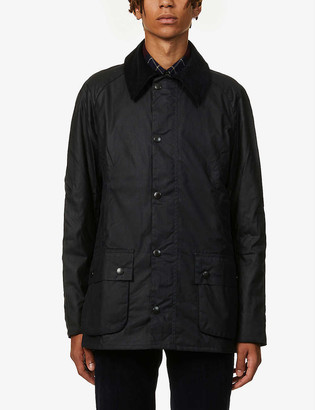 Barbour Ashby corduroy-trimmed waxed cotton jacket