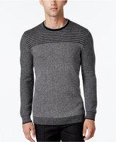 Alfani Collection Men's Stripe Rack-Stitch Sweater, Regular Fit