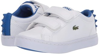 Lacoste Kids Straightset 120 1 CUI (Toddler/Little Kid) (White/Blue) Kid's Shoes