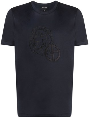 Giorgio Armani embroidered logo T-shirt