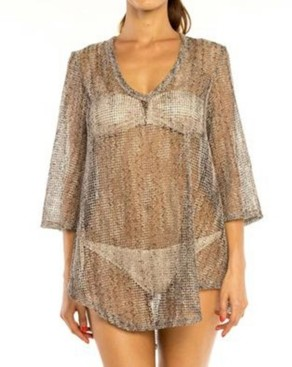 Jordan Taylor Shale Bell Sleeve Tunic Cover up Women's Swimsuit