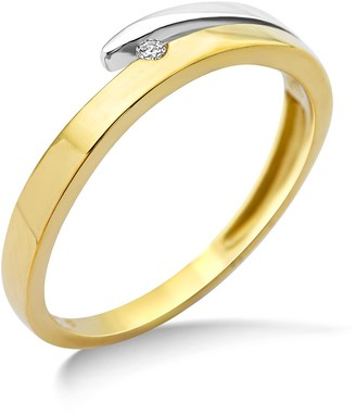 Miore Ladies 9ct Two Tone Gold Diamond Engagement Ring - Size N