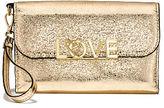 Victoria's Secret Victorias Secret Love Metallic Crackle Tech Clutch