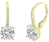 Bliss Gold Lever-Back Drop Earrings With Swarovski® Crystals