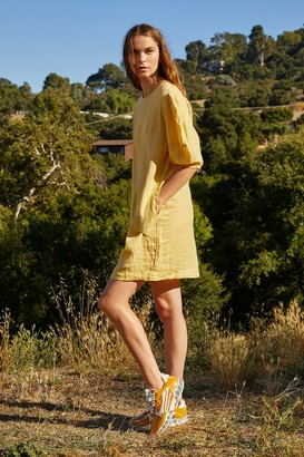 Velvet by Graham & Spencer Devon Woven Linen Puff Sleeve Dress