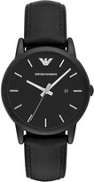 Emporio Armani AR1973 leather and silicone watch