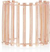 Eddie Borgo Rose gold-plated crystal grate cuff