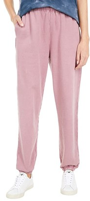 Lucky Brand Sueded Terry Joggers (Rose) Women's Casual Pants