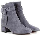 Gianvito Rossi Leslie suede ankle boots