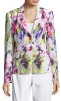 Basler Floral-Print Long-Sleeve Blazer